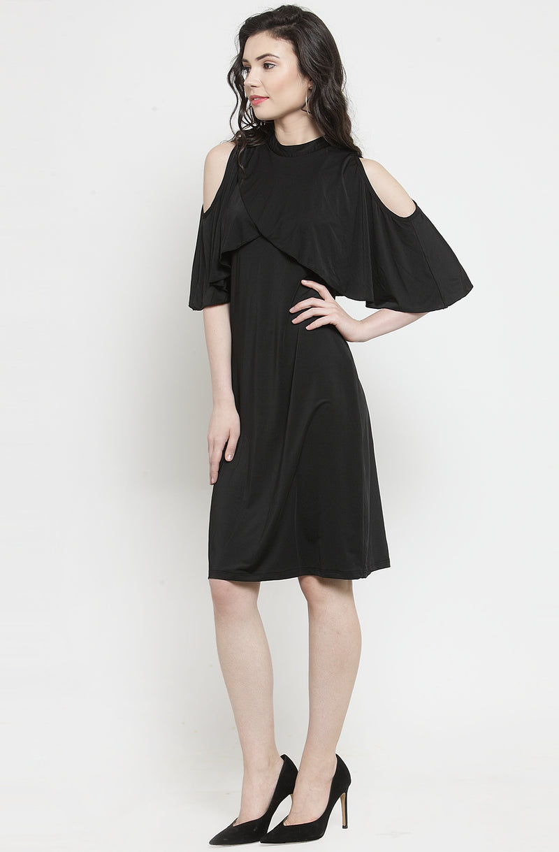 Cape A-Line Dress  by Afamado
