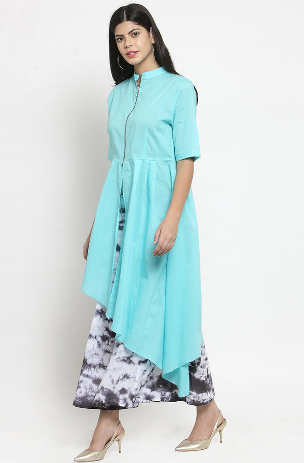 Sea Green Tunic with Palazzo Set