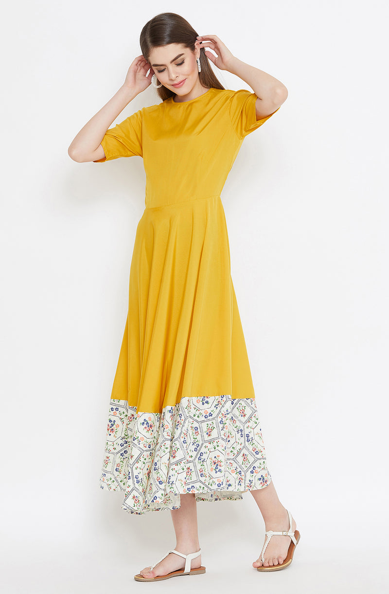 Classy Mustard Gown