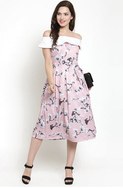 Schiffly Floral Dress by Afamado