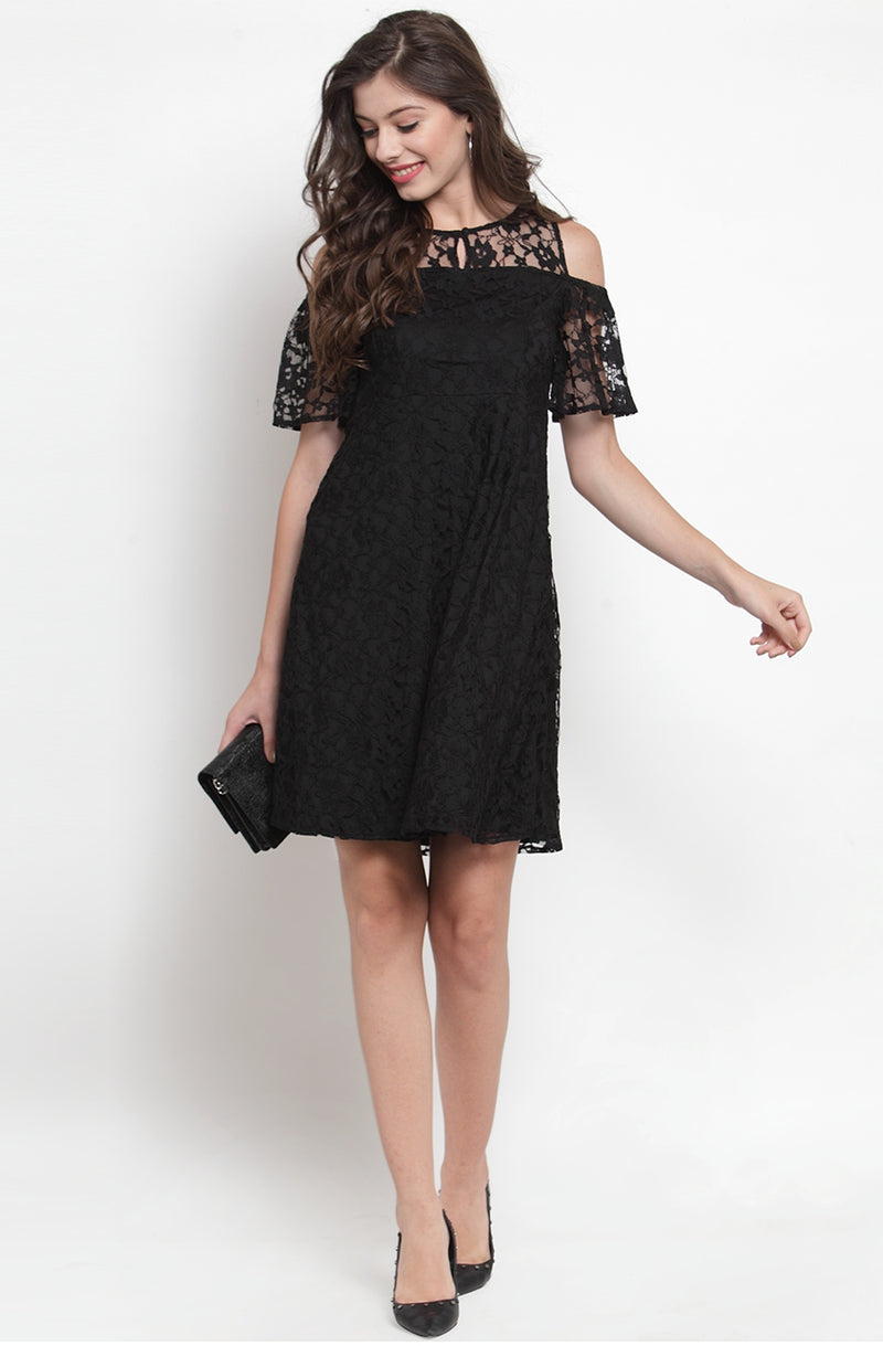 Lace detail Dress by Afamado