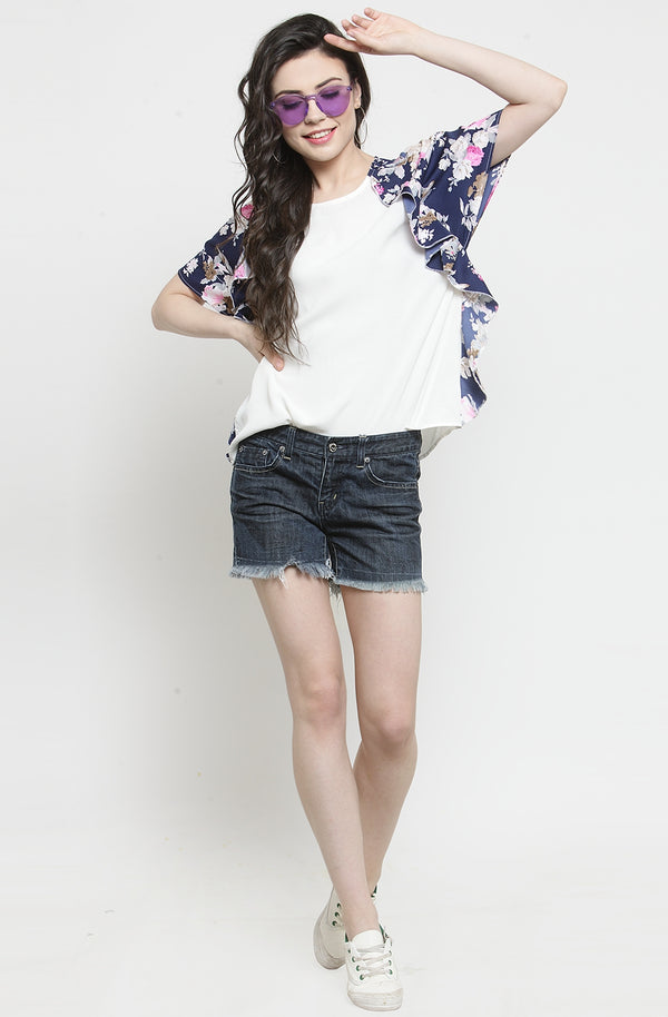 White Ruffled Top by Afamado