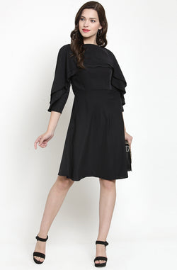 Layered Ruffle Dress by Afamado