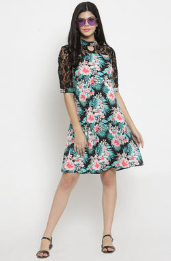 A Line Dress with Flare Sleeves by Afamado