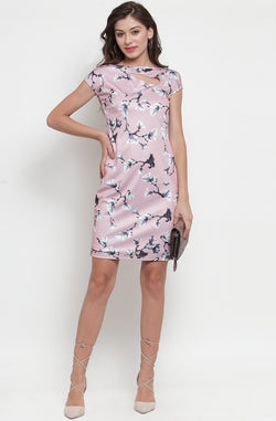 Printed Bodycon Dress  by Afamado