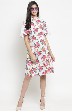 Casual Floral A-line Dress by Afamado