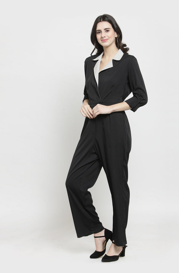 Double Collar Jumpsuit