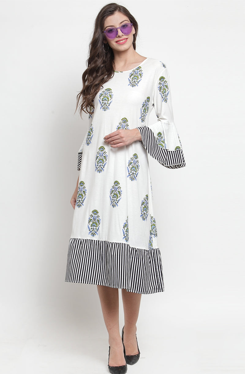 Soft Cotton Hand Printed Dress