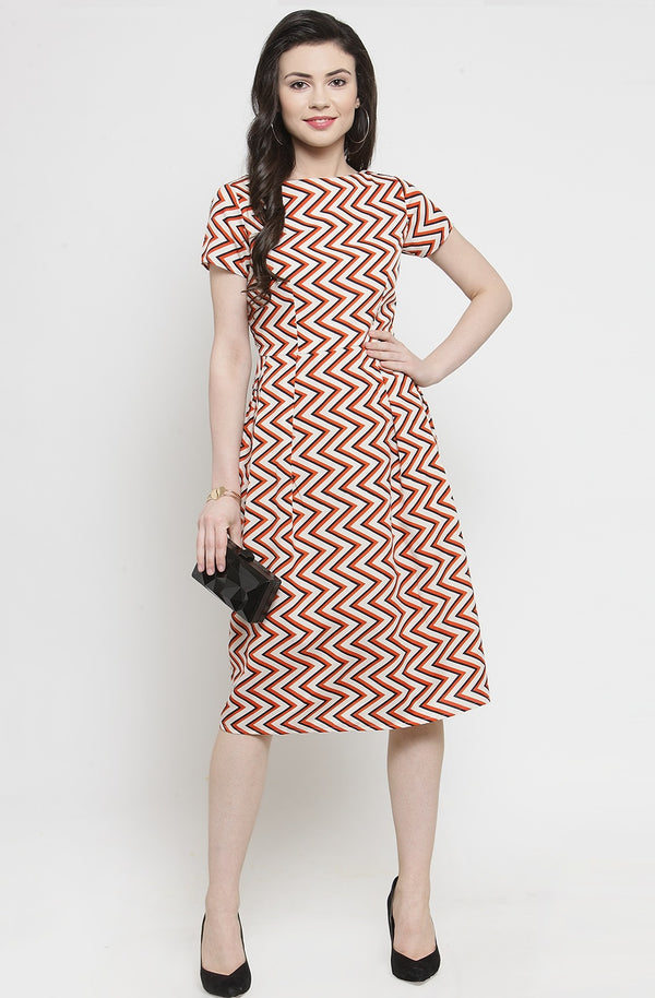 Chevron Pleated Summer Dress by Afamado