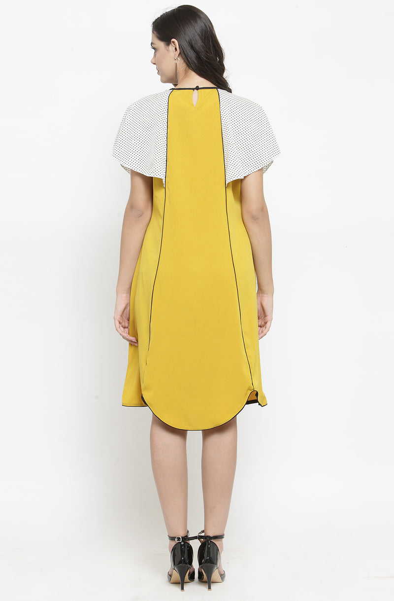 Yellow A-Line Shift Dress