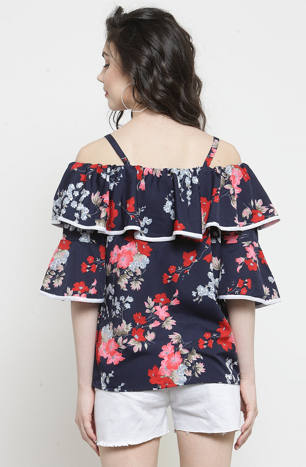 Ruffle on Off-The-Shoulder Top