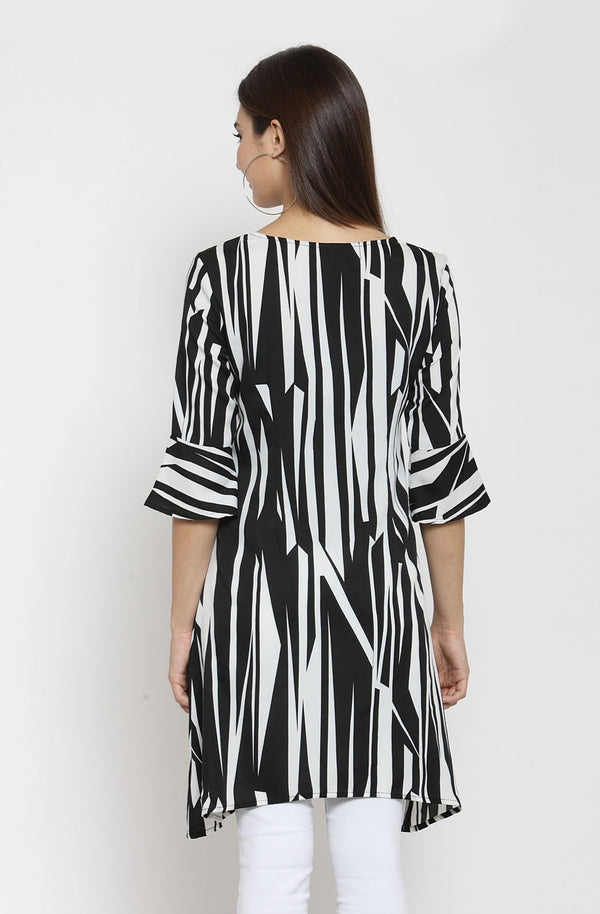 Striped Boat Neck Tunic