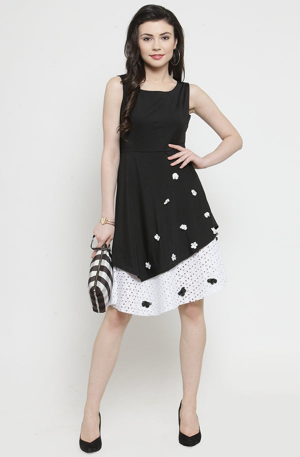 Embellished Lace Dress by Afamado