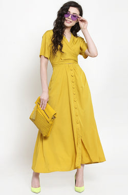 Yellow Sun Kissed Maxi Dress by Afamado