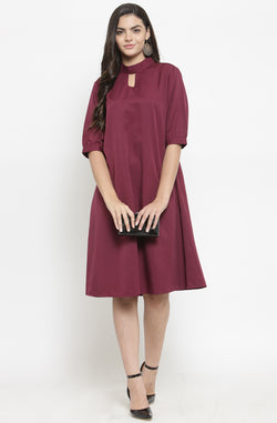 A-line Formal Dress with Mandarin Collar by Afamado