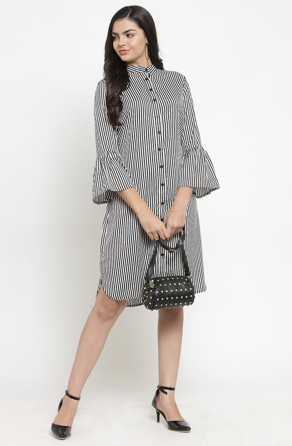 Striped Shirt Dress by Afamado