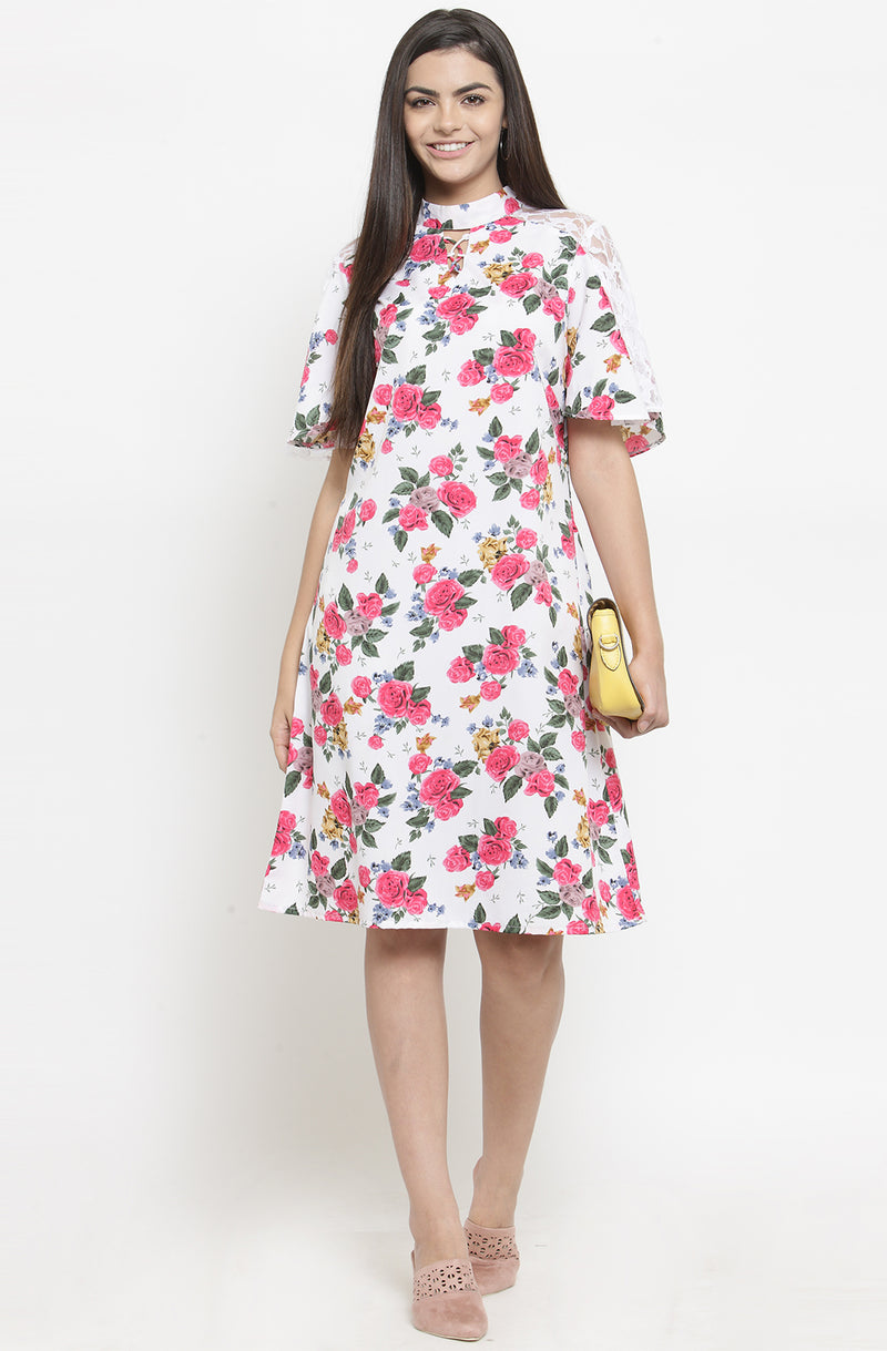 Floral A-Line Casual Dress by Afamado