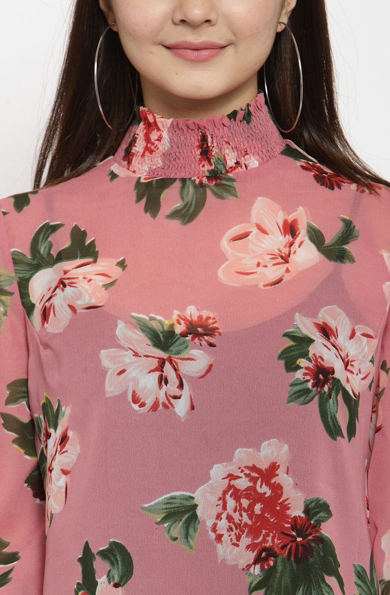 Long Sleeves Printed Top