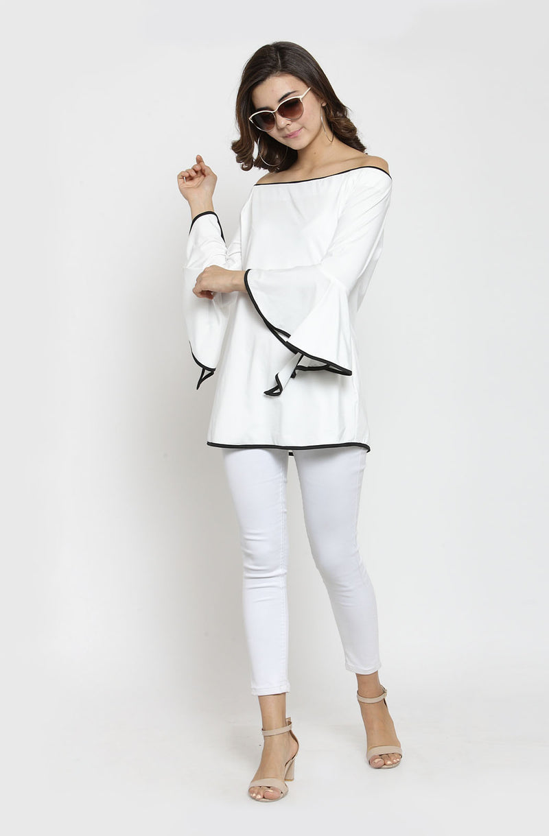 Off-Shoulder Bell Sleeve Top
