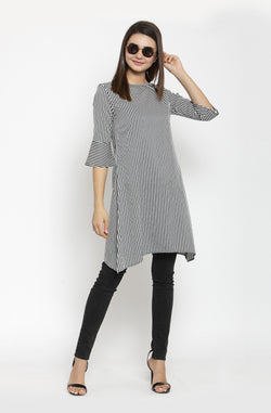 Boat Neck Party Tunic by Afamado