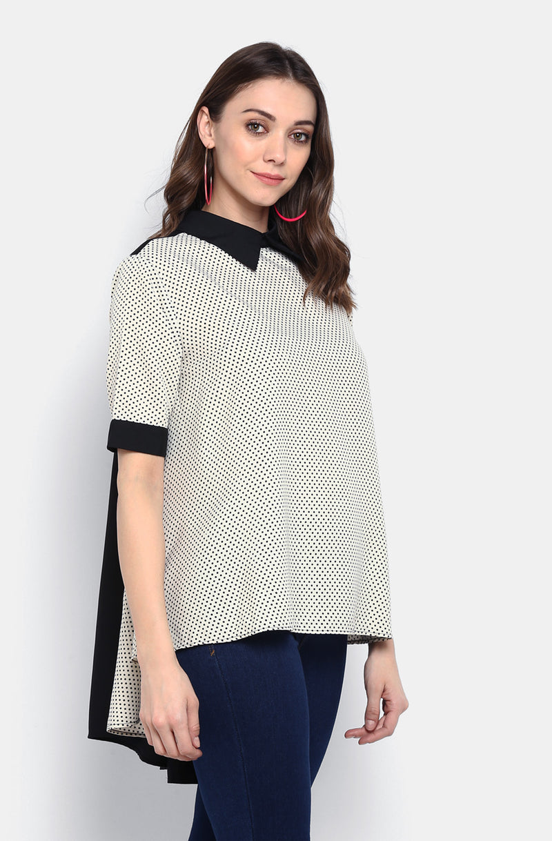 Fine Dotted Formal Top
