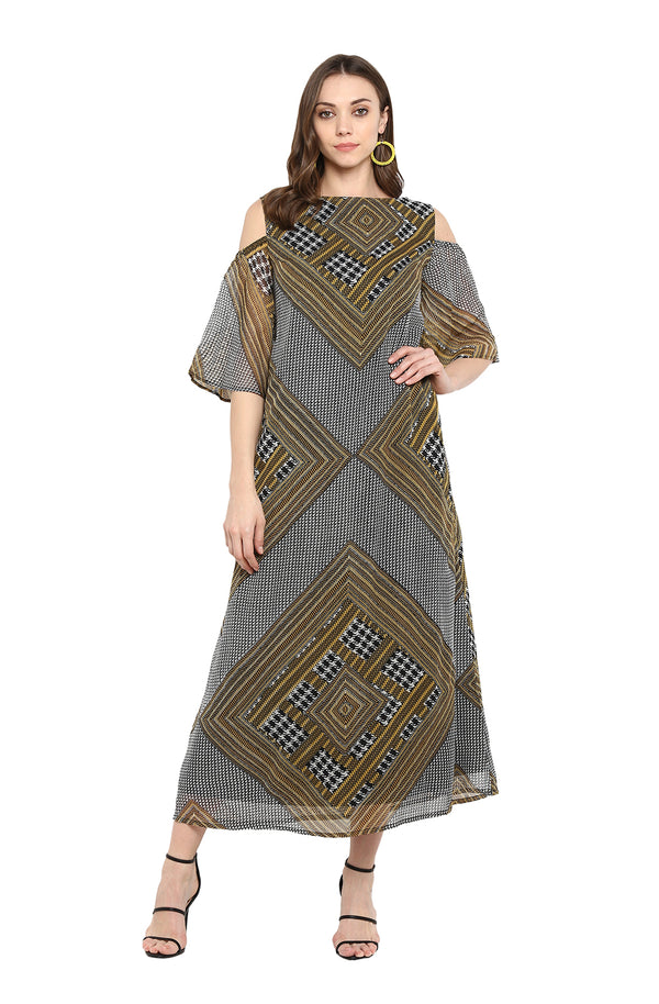 Maxi Dress with Geometric Print