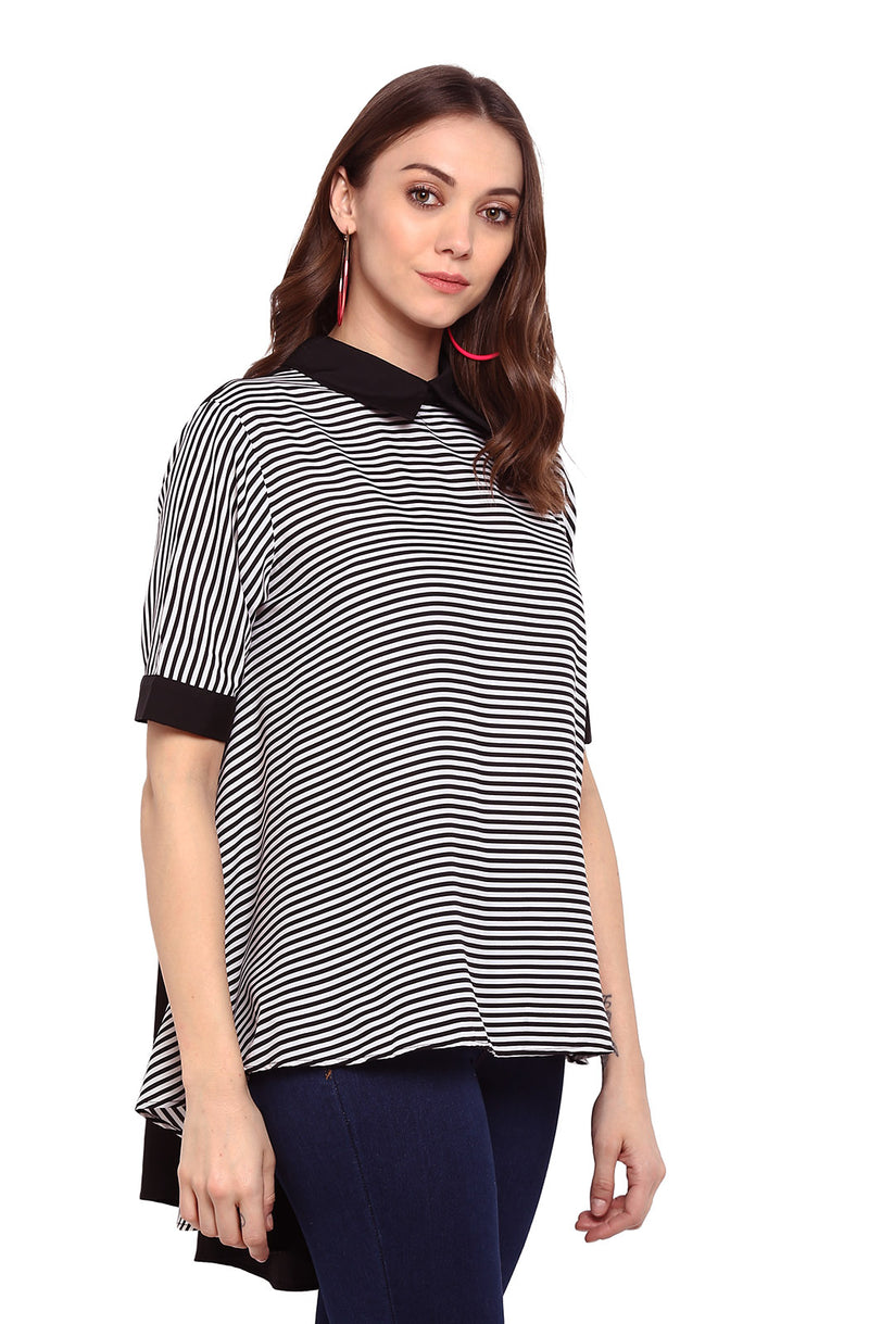 Striped Monochrome Top