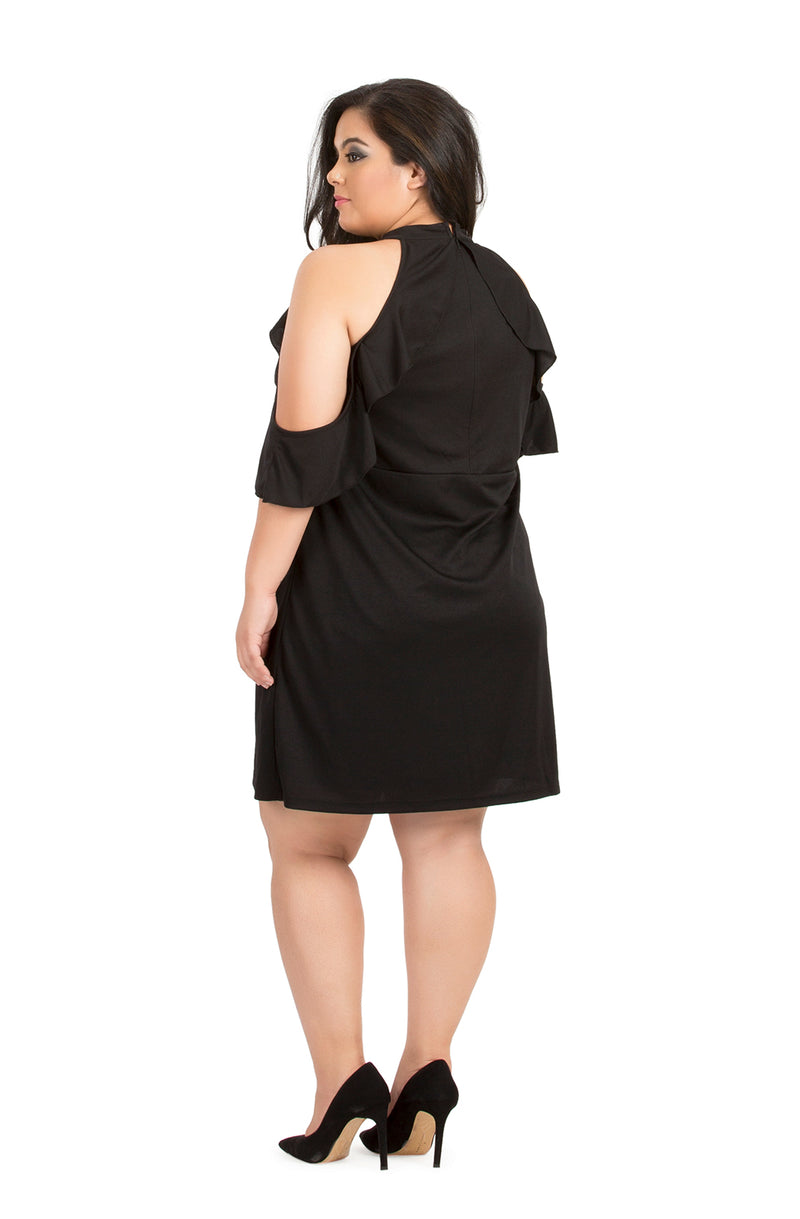 Black Ruffle Party Dress