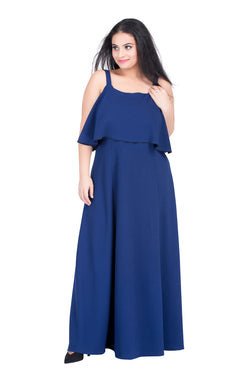 Royal Blue Layered Party Gown by Afamado