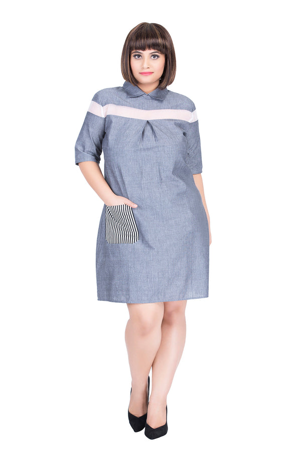 Patch Pocket Straight Fit Dress