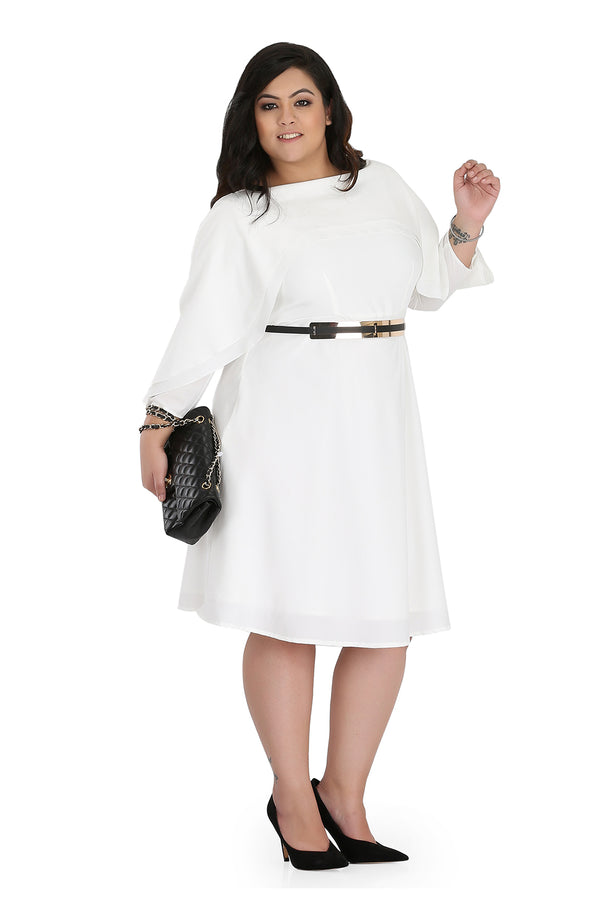 Layered White Ruffle Dress