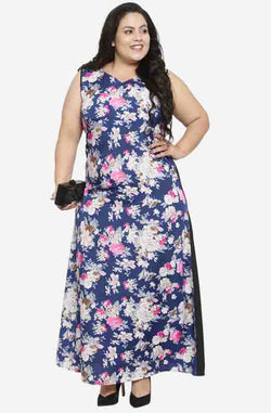 Formal Floral Sleeveless Maxi Dress by Afamado