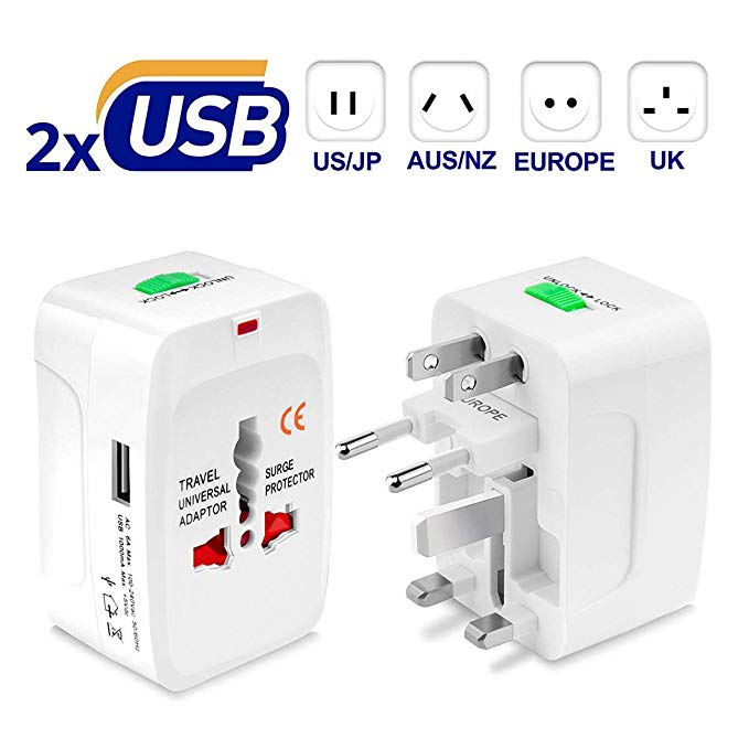 All in one, universal travel adapter (free US shipping)