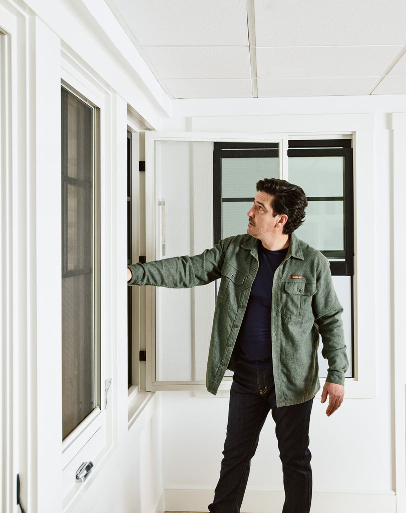 Jonathan Knight checking out our Marvin Window displays