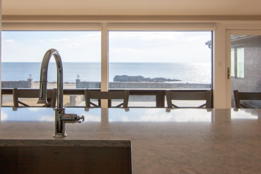 kitchen sink custom island ocean view