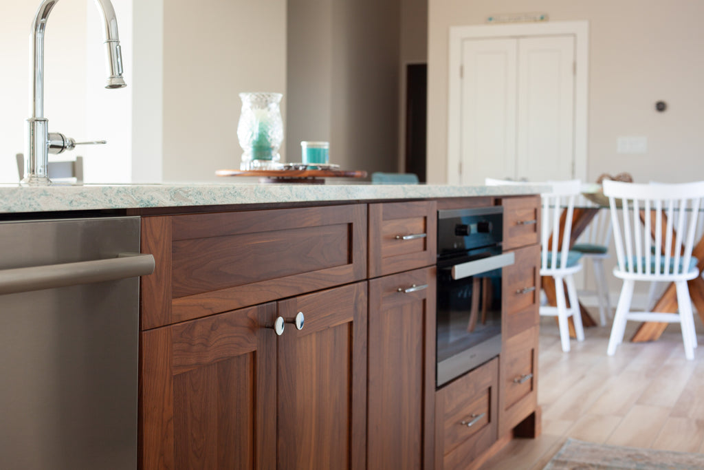 plain and fancy custom kitchen island walnut cabinetry kitchen sink