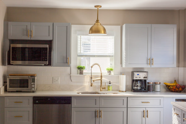 cubitac cabinetry gray cabinets brass shaker style