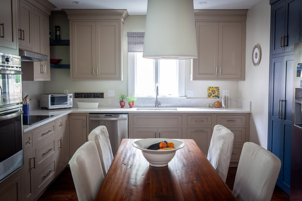 New England Contemporary Kitchen Shiloh Inset Cabinetry