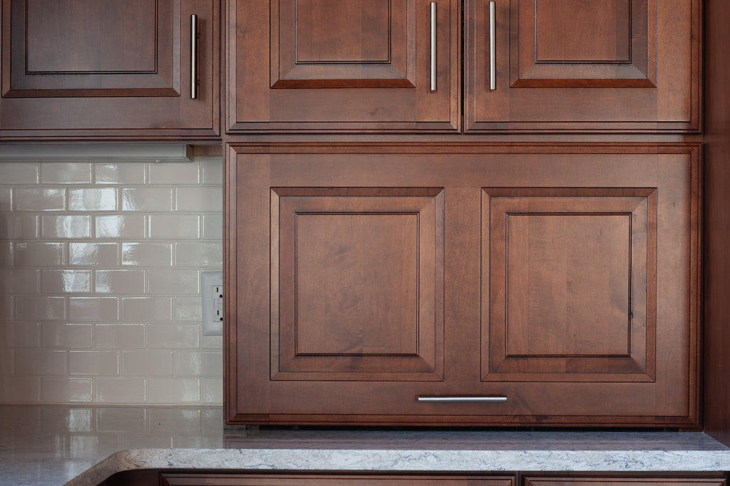 medallion kitchen cabinetry appliance garage providence door style vineyard maple finish