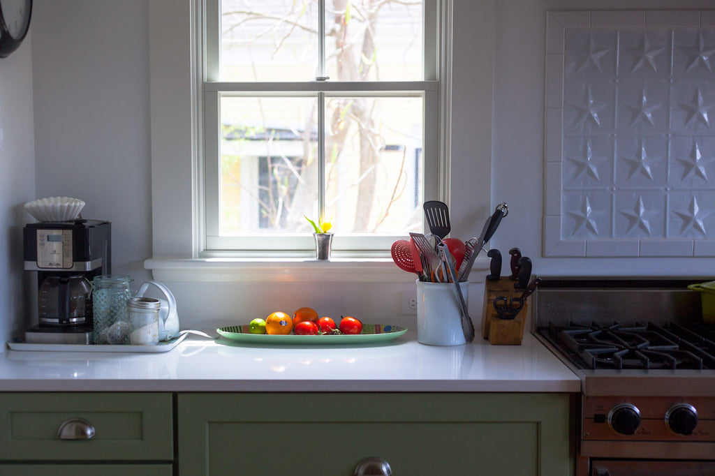 light and color in the kitchen