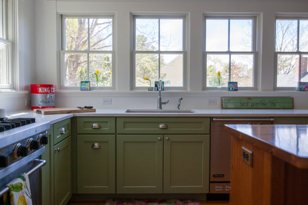 best possible life medallion kitchen painted cabinetry green shaker style