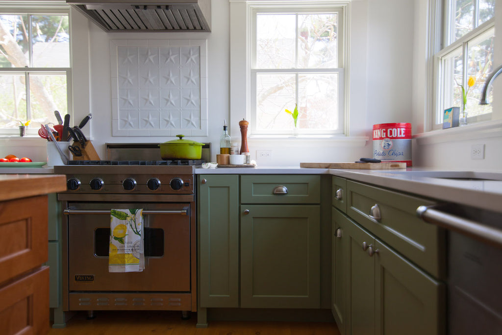 medallion kitchen cabinetry painted finish green