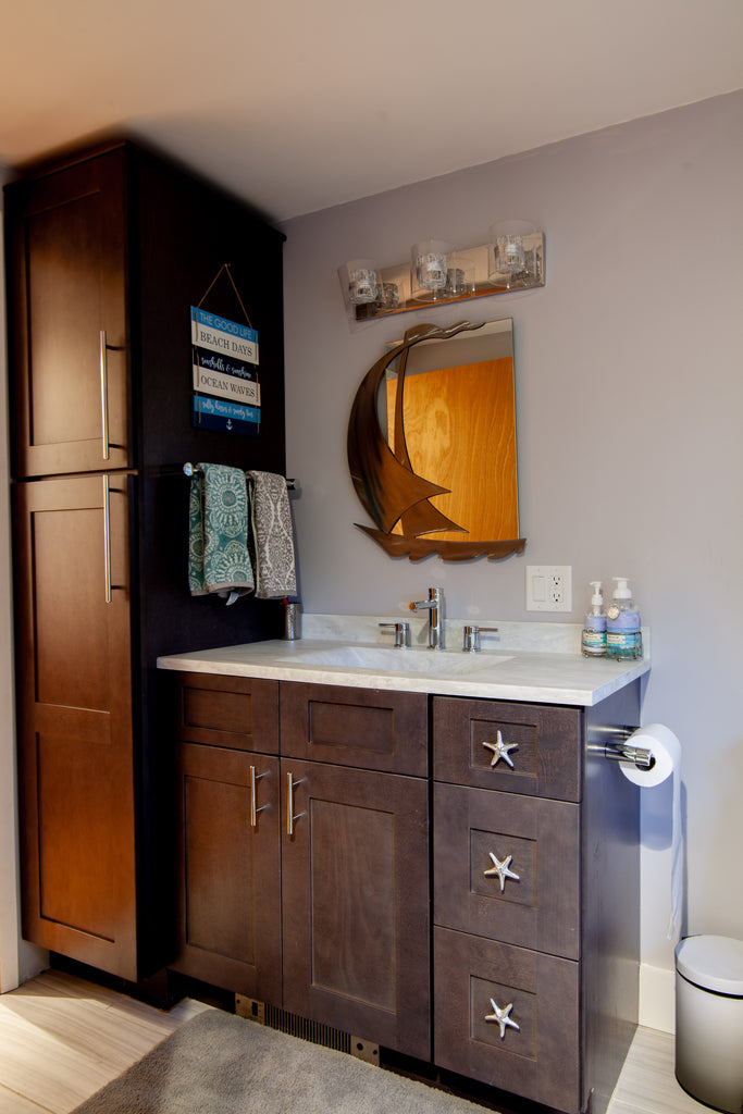 design craft wood cabinetry bathroom vanity
