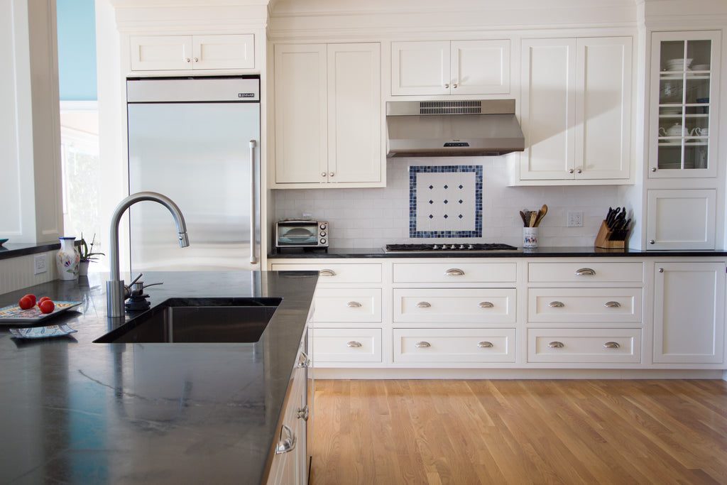 kitchen layout soapstone counters