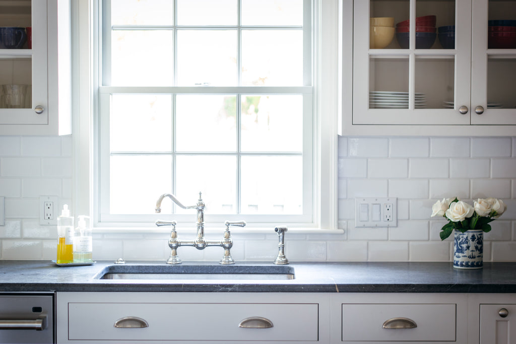 Traditional Faucet, Kitchen Sink, Plain & Fancy Cabinetry