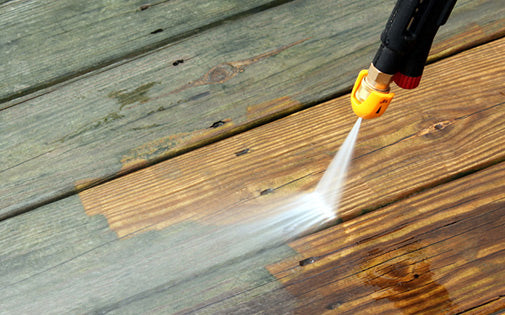 pressure cleaning mildew deck
