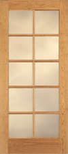 JELD-WEN E0510 Custom Wood Glass Panel Interior Door