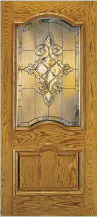 JELD-WEN A412 Aurora Custom Fiberglass Glass Panel Exterior Door