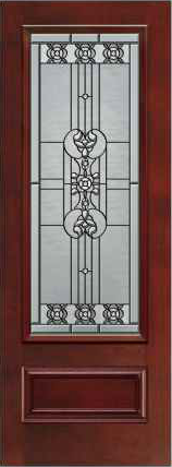 JELD-WEN 826 - 8'0 Architectural Fiberglass Glass Panel Exterior Door