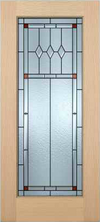 JELD-WEN 7001 Authentic Wood Glass Panel Exterior Door